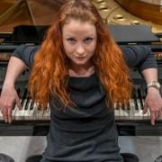 BARCELONA. 03.04.2014 La pianista ukrainesa CHERNCHKO REGINA ganadora del concurso de piano Maria Canals en el Palau de la Musica. FOTO FERRAN SENDRA