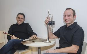 Joachim Spieth (trompeta) y Juan Antonio Miñana (percusión), Conoce tu orquesta, ensayo Sinfónica 4 dic 2014 (4º concierto abono)